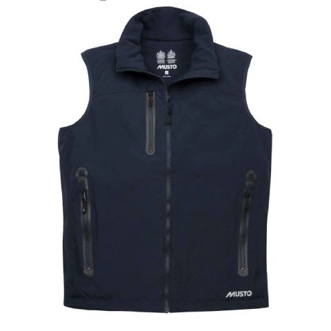 Musto Mens Corsica BR1 Gilet - Lightweight Fleece Lined Vest - True Navy